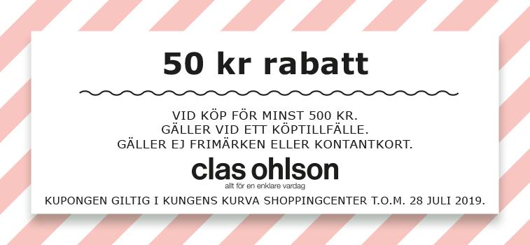 ebf59fa6250 50 kr rabatt vid köp för minst 500 kr