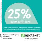 25% rabatt på en valfri vara!