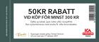 Populära rabattkuponger 50 kr rabatt vid köp för minst 300 kr
