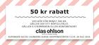 Populära rabattkuponger 50 kr rabatt vid köp för minst 500 kr