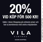 20% vid köp för minst 500 kr!
