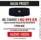 JBL Charge 3 NU 895 kr!