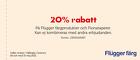 20% rabatt på Flügger färgprodukter och Fionatapeter