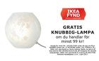 Populära rabattkuponger GRATIS KNUBBIG-lampa om du handlar för minst 99 kr!