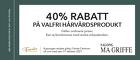 40% rabatt på valfri hårvårdsprodukt