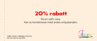 20% rabatt på en valfri vara