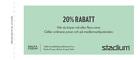 Populära rabattkuponger 20% rabatt på hela sortimentet vid köp av två eller fler varor.