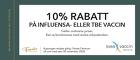 10% rabatt på influensa- eller TBE vaccin