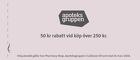 Populära rabattkuponger 50 kr rabatt vid köp över 250 kr.