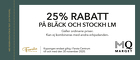 25% rabatt på Bläck och Stockh lm