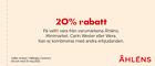 Populära rabattkuponger 20% rabatt på en valfri vara från varumärkena Åhléns, Minimarket, Carin Wester och Wera