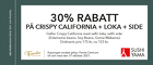 30% rabatt på Crispy California + LOKA +  side