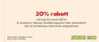Populära rabattkuponger 20% rabatt vid köp för minst 500 kr