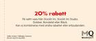 20% rabatt på en valfri vara från Stockh lm, Stockh lm Studio, Dobber, Bondelid eller Bläck