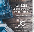 Gratis uppläggning av ett par jeans!