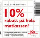 Populära rabattkuponger 10% rabatt på hela matkassen!