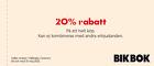 20% rabatt på ett helt köp