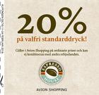 20% på valfri standarddryck!