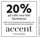 Populära rabattkuponger 20% rabatt på valfri vara från Don Donna!