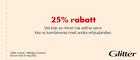 25% rabatt vid köp av minst två valfria varor