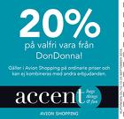 Populära rabattkuponger 20% på valfri vara från Don Donna!