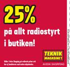 25% på allt radiostyrt!