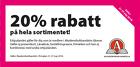 Populära rabattkuponger 20% rabatt på en valfri vara!