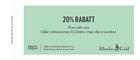 Populära rabattkuponger 20% rabatt på valfri vara.