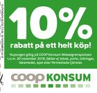 Populära rabattkuponger 10% rabatt på ett helt köp!