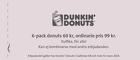 Populära rabattkuponger 6-pack donuts 60 kr, ordinarie pris 99 kr.