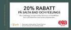 20% på Salta Bad och Feelings