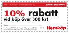 10% rabatt vid köp över 300 kr!