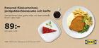 Schnitzel och cheesecake 89:-