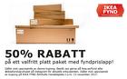Populära rabattkuponger 50% rabatt på ett valfritt platt paket med fyndprislapp!