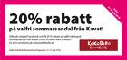 20 % rabatt på valfri ekologisk sommarsandal från Kavat!