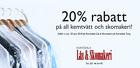 20% rabatt på all kemtvätt och skomakeri!