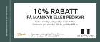 10% rabatt på manikyr eller pedikyr