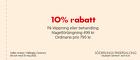 10% rabatt på klippning eller behandling