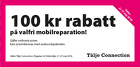 100 kr rabatt på valfri mobilreparation!