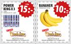 Populära rabattkuponger 3 Powerking 15 kr! Banan 10kr/kg!